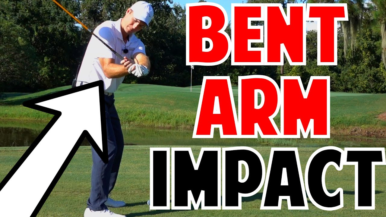 golf power lesson | bent right arm at impact - youtube