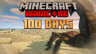 I Survived 100 Days Hardcore Minecraft in The Sahara Desert and Here's What Happened