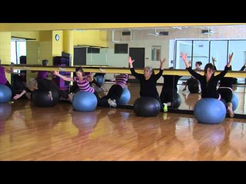 Fitball Pilates Group Exercise at the YMCA