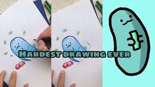 Drawing 'Turkey' the ZHC punching bag