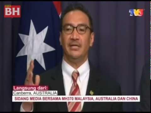 Sidang media bersama MH370 di Canberra