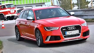 750hp audi rs6 c7 with akrapovič exhaust rev limiter launch control fly bys