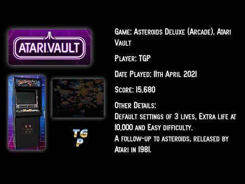 Asteroids Deluxe - Atari Vault - Arcade Machine, 3 lives - 15,680 points |
