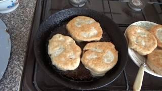 БАБУШКИНЫ ПИРОЖКИ с зеленью и мясом. Как приготовить пирожки на сковородке? Рецепт пирожков