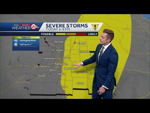 Approaching cold front could trigger T-storms Monday evening