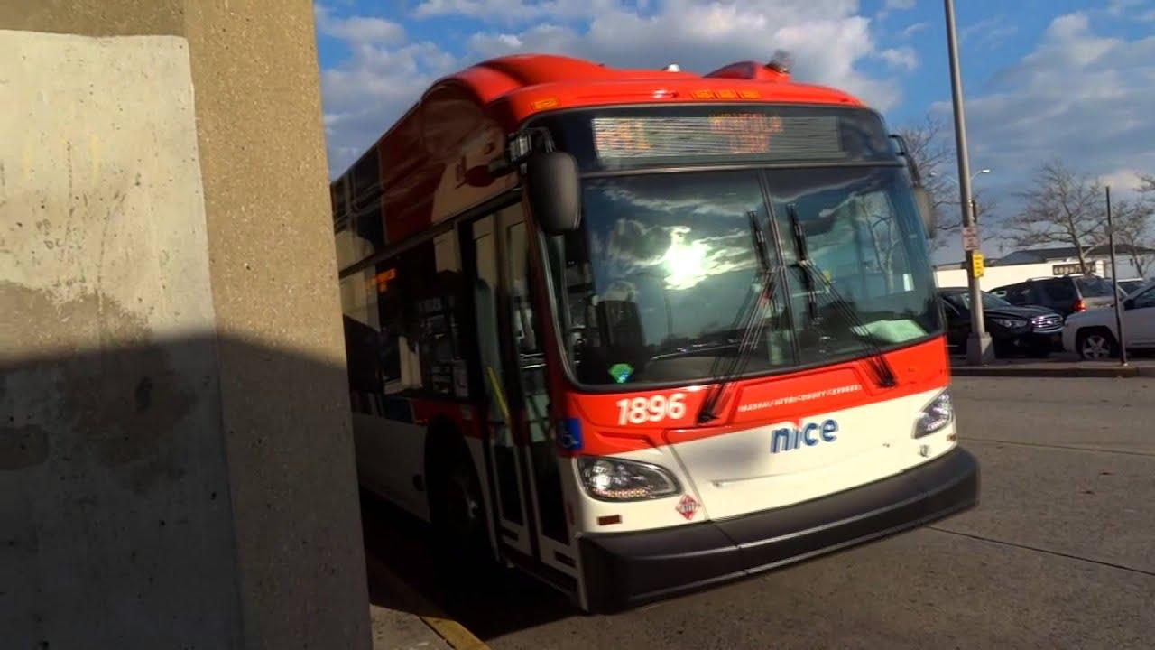 nice bus: new flyer xn40 #1891 & #1896 n43 & n41 @ freeport plaza