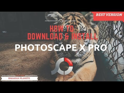 How to download and install Photoscape X Pro + Crack (Photo Editor for Mac/PC ) FREE