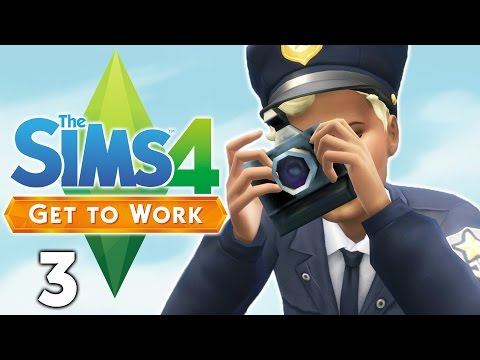 Let's Play The Sims 4 Get to Work - Part 3 - Crime Scene Investigator!