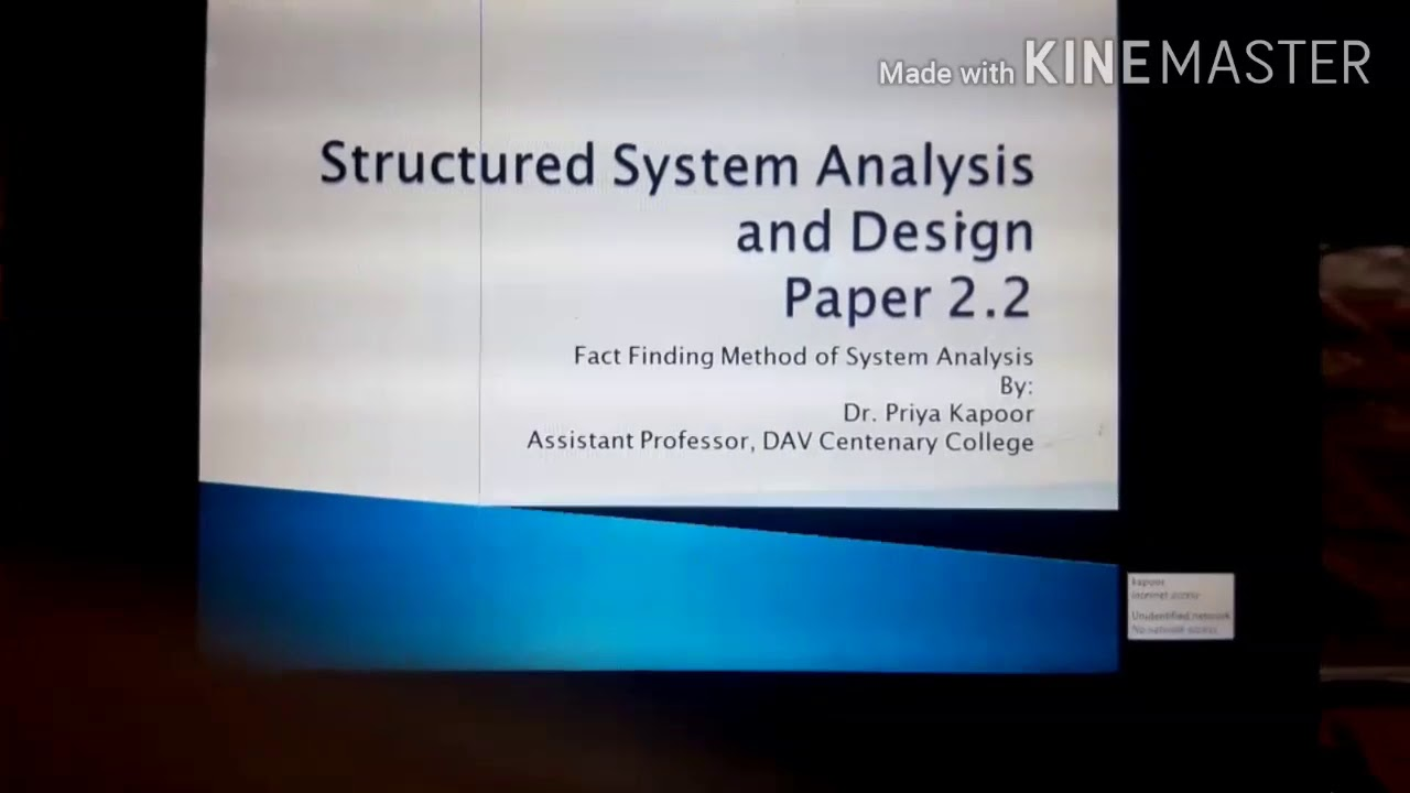 Structured System Analysis And Design Fact Finding Techniques Youtube