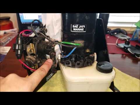 Mercruiser tilt trim NOT WORKING Fix and testing the pump
