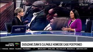 Chriselda Lewis on Zuma's culpable homicide case