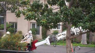Electricity pole repair.... large construction equipment attachment