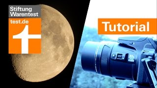Tutorial: Mond-Fotos mit 2000mm-Tele von Superzoom-Digicam (Test Nikon P900)