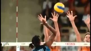 Прикольный замедленный женский волейбол!