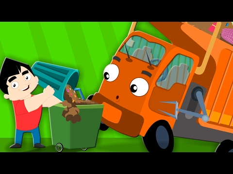 Wheels On The Garbage Truck | Nursery Rhymes | Childrens Songs | Baby Rhymes | Kids Videos Kids Tv