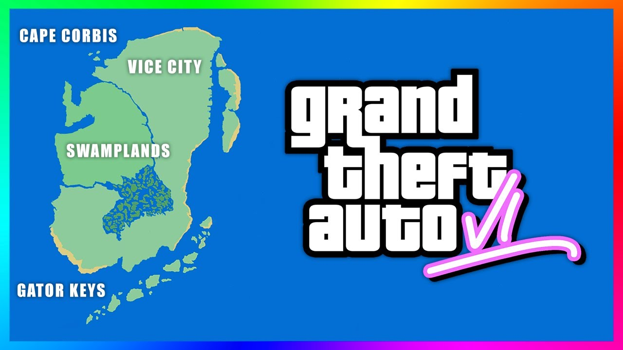 GTA 6 LEAKED MAP...Vice City Location, Multiple Islands, BIGGEST World Ever & MORE! (Real OR Fak