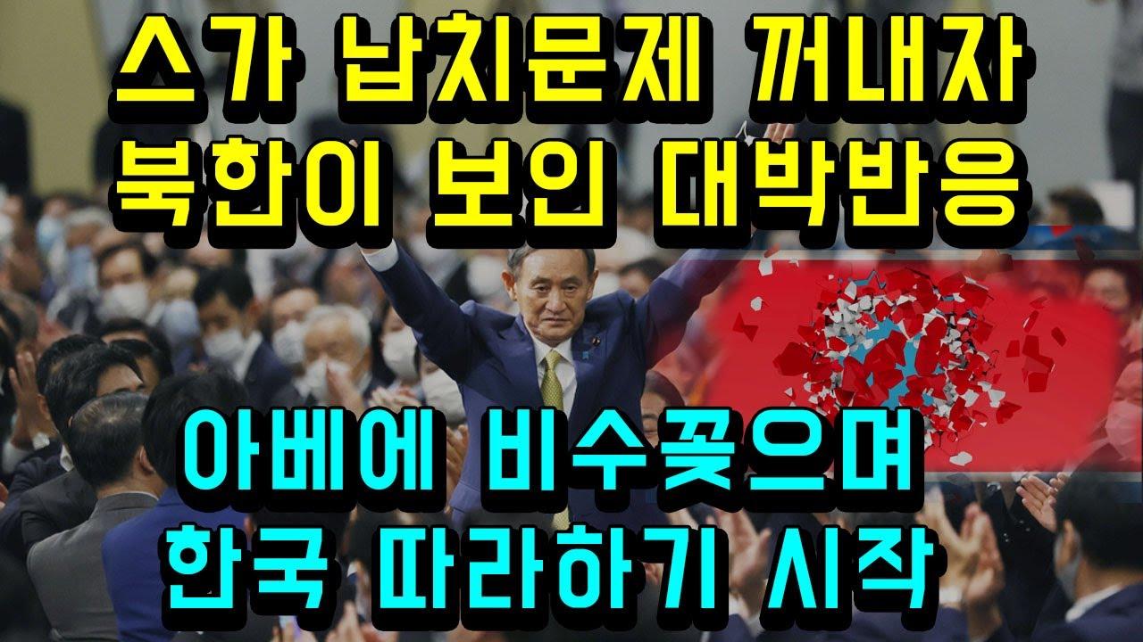 일본 스가 납치문제 꺼냈다가 북한이 보인 대박반응/ 아베에 당한 설움 비수꽂으며 한국 따라하기 시작