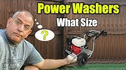What Size Pressure Washer for Home
