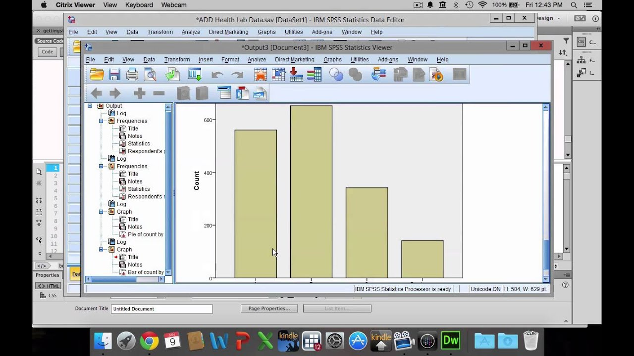 Pie charts bar graphs and histograms in spss youtube pie charts bar graphs and histograms in spss nvjuhfo Images