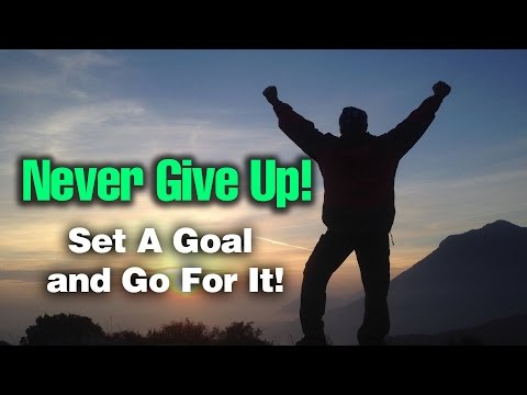 Never, Never, Ever Give Up! -- No Excuses