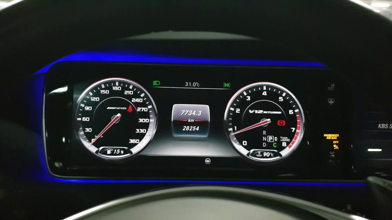 벤츠 S65 AMG V12 (Mercedes Benz S65amg)시동 영상