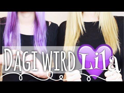 Ich färbe mir die Haare ... LILA ♡ !! mit MrsBella | Dagi Bee