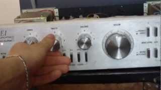 Amplifier IEI industrial electronics 2x35 W modified to 2x100 W TDA 7294