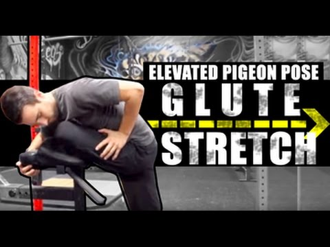 glute stretch elevated pigeon pose  youtube