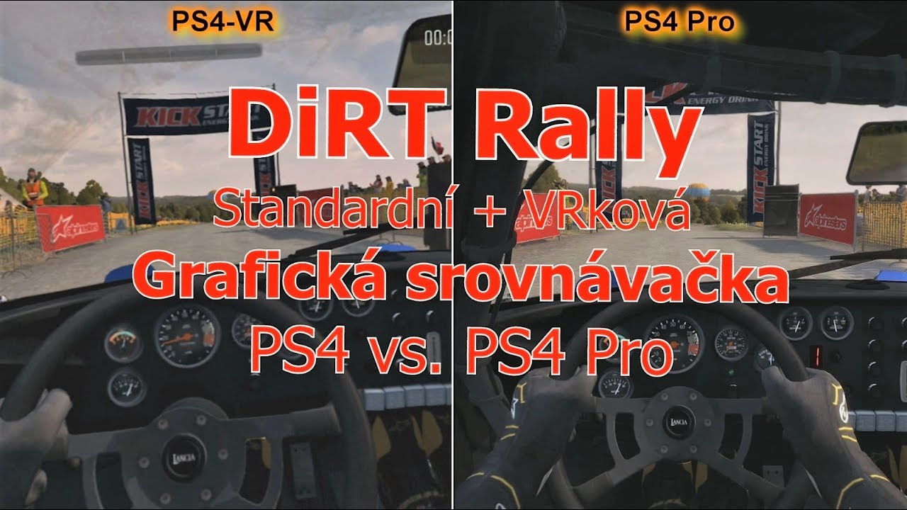 dirt rally ps4 vs ps4 pro standardn vrkov. Black Bedroom Furniture Sets. Home Design Ideas