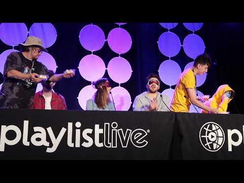 Blind Folded Challenge/Harrison & Anderson Webb, Bobby, Franny, Dom, JC - Playlist Live 2018