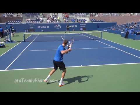 Kyrgios v. Sock, 2016 US Open practice 4K