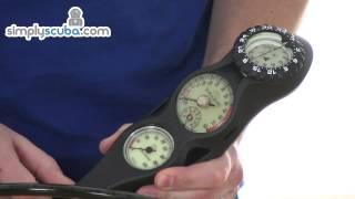 Sub Gear Triple Gauge - Pressure, Depth and Compass - www.simplyscuba.com