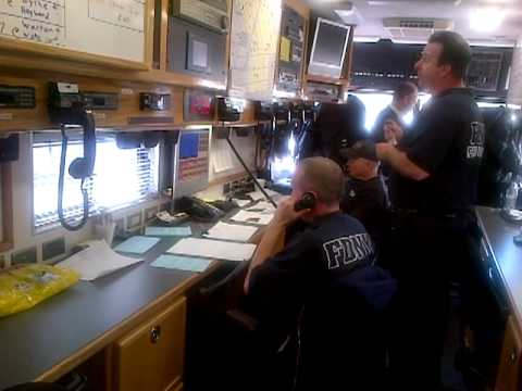 Brooklyn Fire Marshal working on the FDNY Command Center in the Williamsburg area