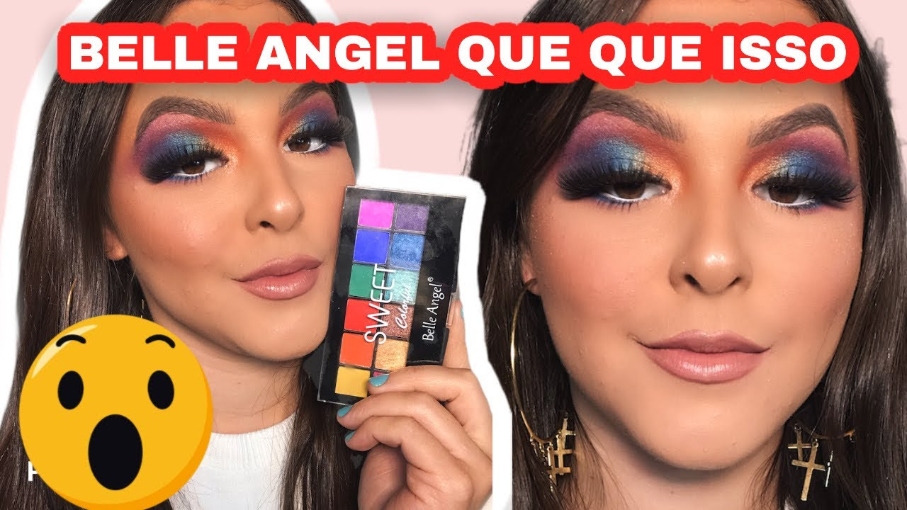 TESTANDO PALETA BELLE ANGEL COLORIDA, NOVO CORRETIVO DUO RUBY ROSE