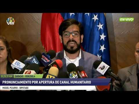 Venezuela - Diputado Pizarro ofreció detalles sobre la entrega de Ayuda Humanitaria - VPItv