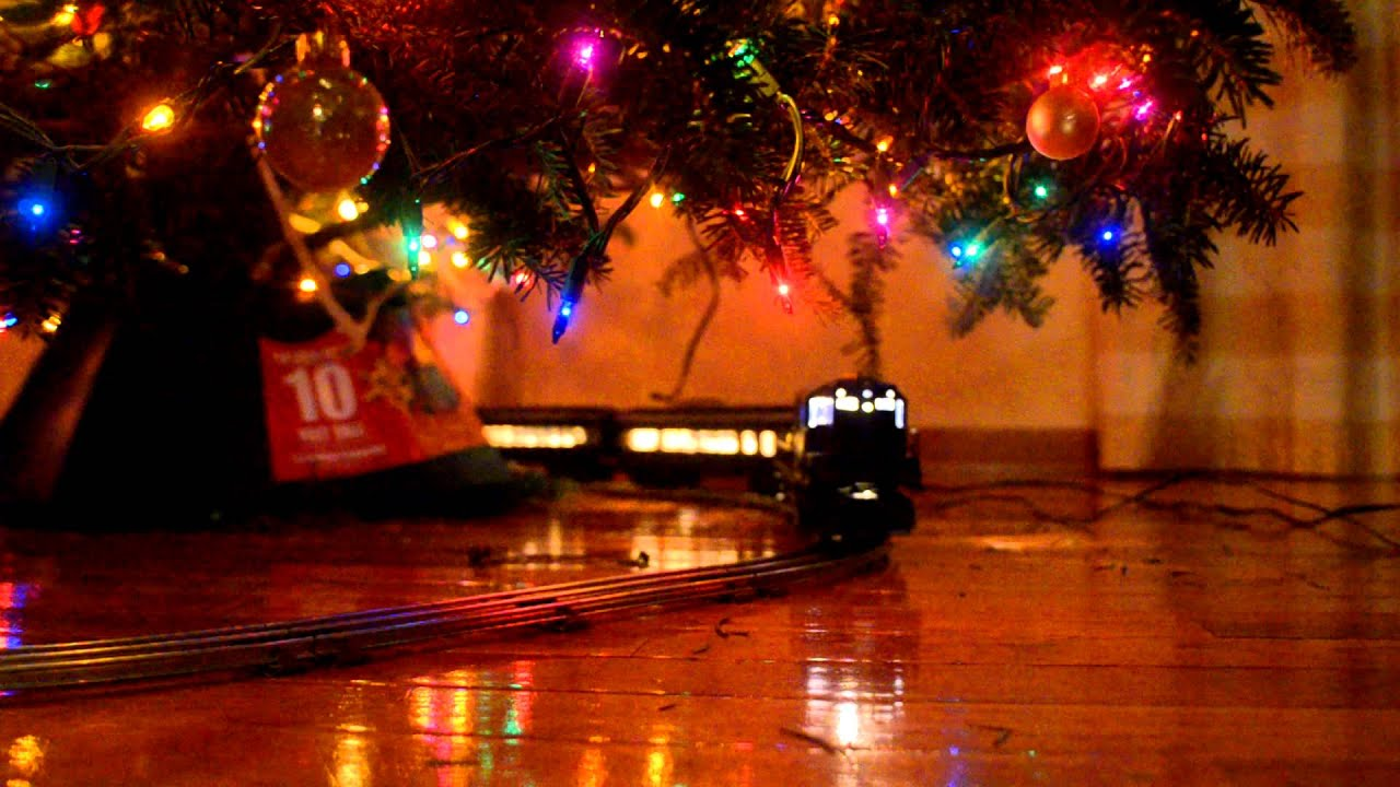 lionel train under the christmas tree youtube