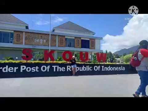 SKOW Border Post Of The Republic Of Indonesia Perbatasan antara Indonesia dan PNG
