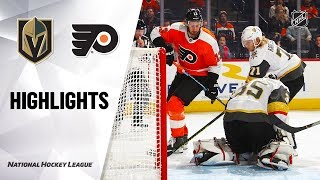 Golden Knights @ Flyers 10/21/19 Highlights