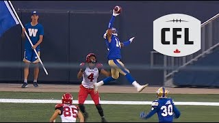 "Sayles goes full ""Jumpman"" to take away a TD 