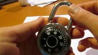 how to crack a combination lock in seconds