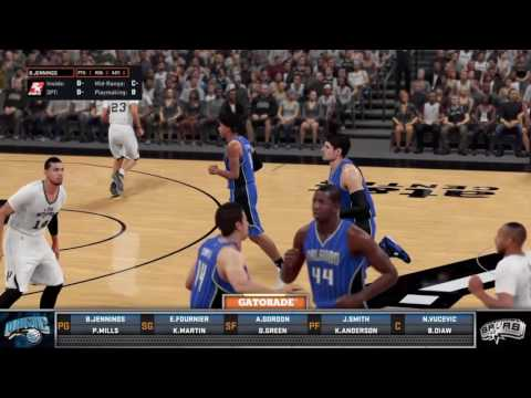 Orlando Magic vs. San Antonio Spurs (NBA 2k16, PS4)