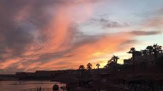 Красивый закат в Египте Шарм эль Шейх