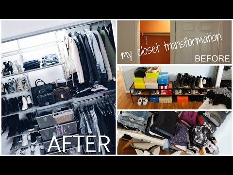 TIMELAPSE: MY CLOSET TRANSFORMATION || elfa closet || The Container Store