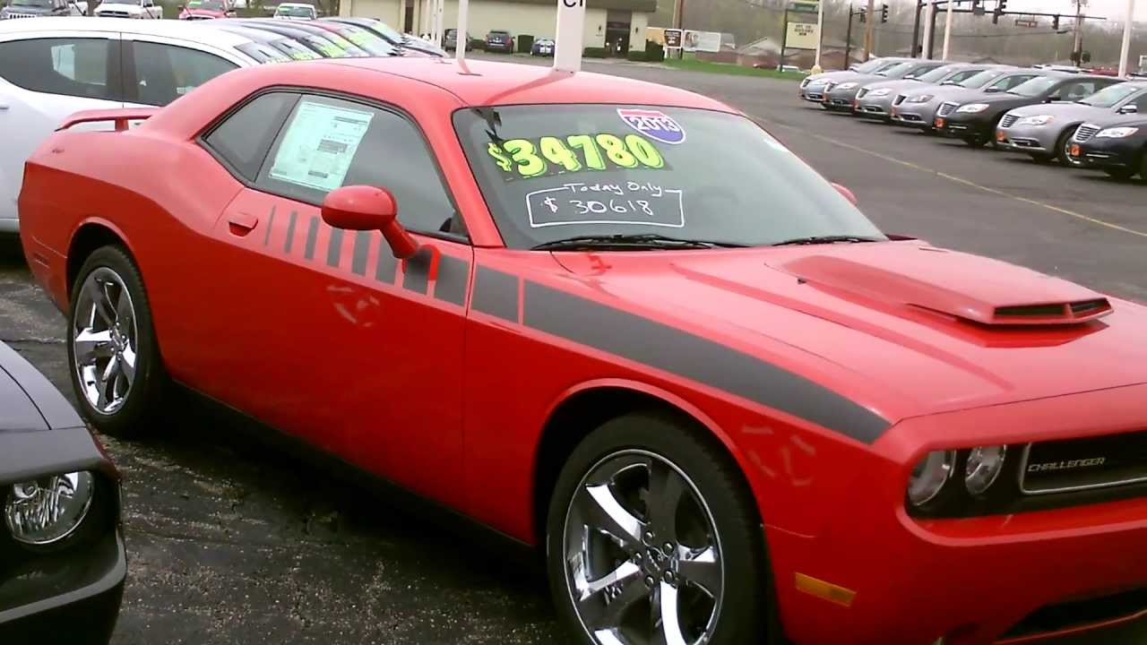 2013 Dodge Challenger R T Coupe Red For Sale Dayton