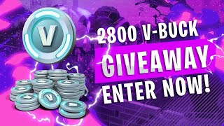 2800 V-BUCK GIVEAWAY!!!| Fast Builder | 255+ wins | Fortnite Battle Royale