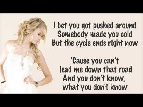 Taylor Swift - Mean Lyrics Video