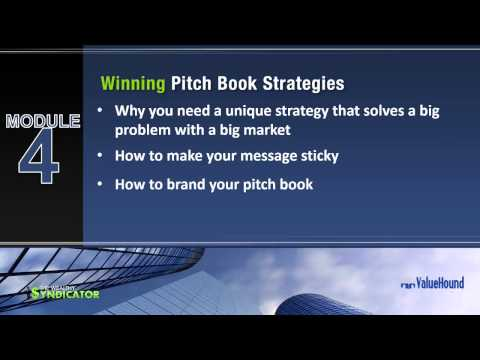 Video: The Secrets to Creating a Persuasive Pitch Book that Attract Investors