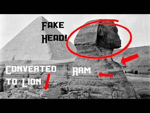 """Old Photo tells everything! Sphinx has """"Attached Head"""", not 'Carved'? Secret 'Vaults'."""