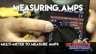 Multi-meter to measure amps Video