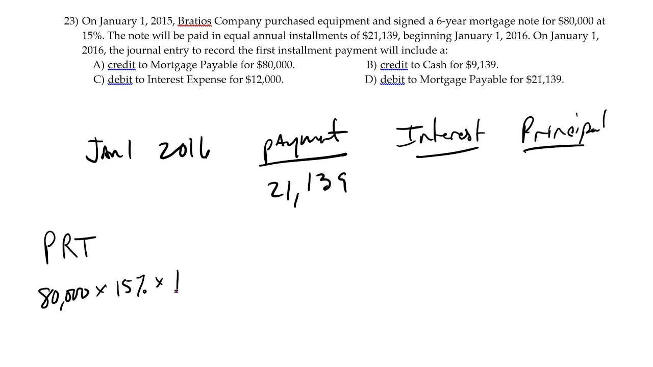 mortgage payment principal interest youtube